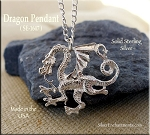 Sterling Silver Dragon Pendant, Bailed Grand Dragon