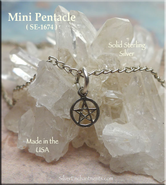 Sterling Silver Pentacle Charm, Mini 6mm