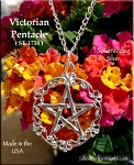 Sterling Silver Victorian Pentacle Pendant, Filigree Pentagram Necklace