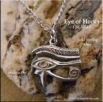 Sterling Silver Eye of Horus, Egyptian