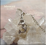 Sterling Silver Mermaid Charm, 3D