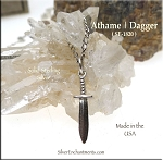 Sterling Silver Athame Charm, 3D Witch's Dagger