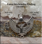 Sterling Silver Isis Jewelry Connector, Goddess Jewelry Finding