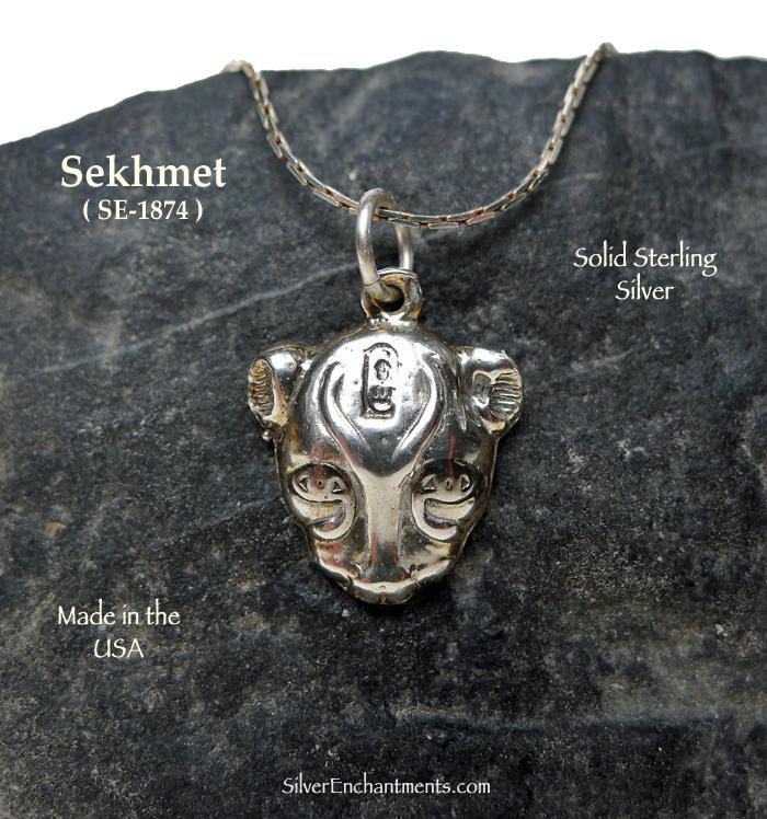 Goddess sekhmet Necklace Ancient Egyptian Gold Goddess Sekhmet Jewelry 18K Gold Filled Sterling Silver Sekhmet Pendant
