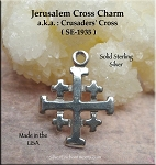 Sterling Silver Jerusalem Cross