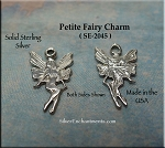 Sterling Silver Fairy Charm, Small Fairy Necklace