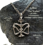 ZDISCONTINUED - Sterling Silver Libra Charm, Libra Zodiac Astrology Jewelry, The Scales of Balance