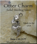 Sterling Silver Otter Charm, Otter Necklace