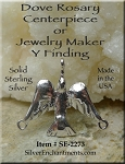 Sterling Silver Dove Jewelry Connector, Holy Spirit Dove Rosary Finding
