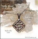 Sterling Silver Celtic Lace Necklace, Bailed