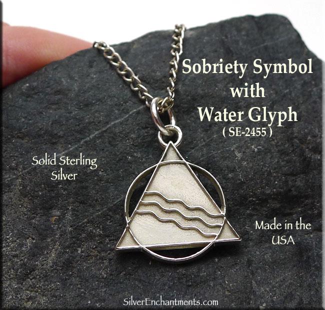 Sterling Silver Sobriety Pendant Recovery Aa Necklace
