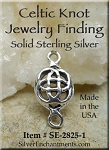 Sterling Silver Celtic Knot Jewelry Link Finding