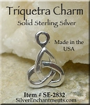 Sterling Silver Triquetra Charm, Trinity Knot