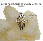 Sterling Silver Celtic Connectors, Celtic Knot Jewelry Links