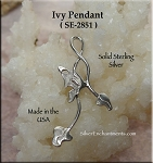 Sterling Silver Ivy Pendant
