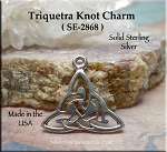 Sterling Silver Triquetra Charm, Celtic Necklace