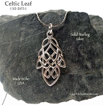 Sterling Silver Celtic Leaf Pendant