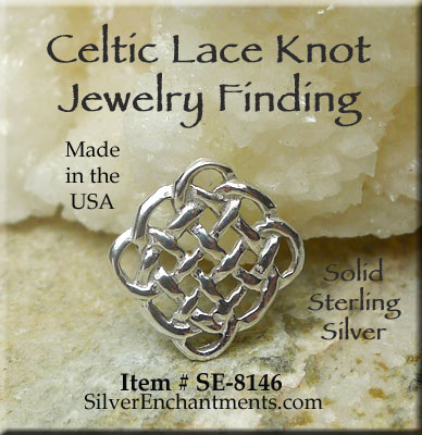 Sterling silver celtic lace knot chandelier findings or jewelry sterling silver celtic lace knot chandelier findings or jewelry links 1 aloadofball Images