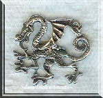 Sterling Silver Hidden-Bailed Guardian Dragon Pendant