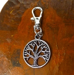 Tree of Life Zipper Pull Backpack Clip Purse Fob Tree of Life Swivel Clip On Charm