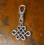 Silver Celtic Zipper Pull Backpack Clip Purse Fob Celtic Knot Swivel Clip On Charm