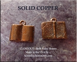 Solid COPPER Book Charm, 3D Book of Shadows Grimoire
