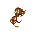 Solid Copper Celtic Greyhound Pendant