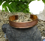 Ladies Men's Pure Copper Bracelet with Twisted Rope Pattern