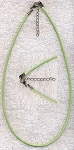 Sage Green Necklace Cord with Extension Chain