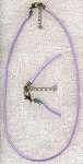 Lavender Purple Necklace Cord with Extension Chain