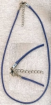 Navy Blue Necklace, Cord Necklace