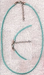 Turquoise Blue Necklace Cord with Extension Chain