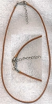 Golden Brown Necklace Cord with Extension Chain