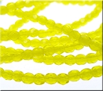3mm Fire Polished CANARY YELLOW Czech Glass Beads