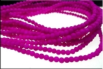 3mm Round Czech Glass Beads Druk Neon PURPLE