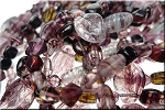 Amethyst Mixed Shapes Czech Glass Beads