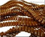CzechMates 3x6mm Two Hole Brick Beads UMBER
