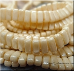 CzechMates 3x6mm Two Hole Brick Beads CHAMPAGNE Luster