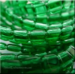 6mm CzechMates Two Hole Tile Beads EMERALD