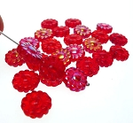 ZSOLDOUT / Czech Glass Beads, Flower RED 12mm