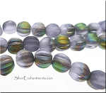ZSOLDOUT - Matte ALEXANDRITE Vitrail Czech Glass 5mm Melon Beads