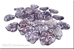 Amethyst Luster 2 Hole Czech Glass Leaf Beads