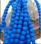 4mm Fire Polished NEON Electric BLUE Czech Glass Beads