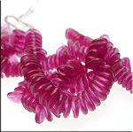 8mm Madder Rose Halo Czech Glass Rose Petal Beads