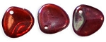 8mm Czech Glass Rose Petal Beads RUBY Vega