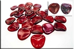 14mm Czech Glass Rose Petal Beads RUBY Vega