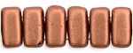 CzechMates 3x6mm Two Hole Brick Beads Matte COPPER