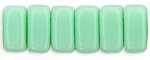 CzechMates 3x6mm Two Hole Brick Beads Light JADE