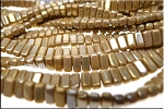 SOLDOUT - CzechMates Brick Beads, French Beige Brown Iris Luster