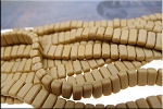 CzechMates 3x6mm Two Hole Brick Beads Matte FRENCH BEIGE